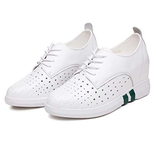 Bianco Primavera White pelle Nappa piatto Nero Comfort tonda Estate ZHZNVX Tacco Scarpe in Sneakers da Punta donna 6qpwBCF