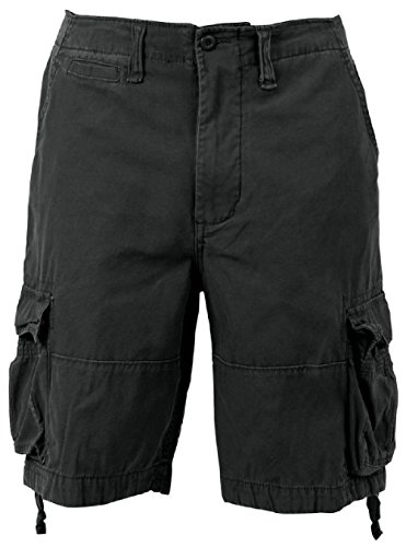 Bellawjace Clothing Black Vintage Army Infantry Military Utility Cargo Shorts ()