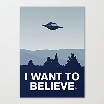 Nagoul Abstract Canvas - My Xfiles I want to believe poster - Wall Art Paintings on