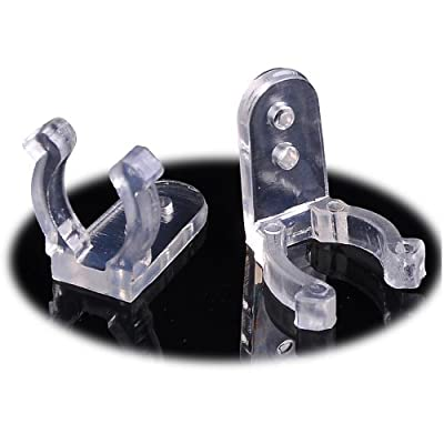 """50pcs 1/2"""" 13mm Clear PVC LED Rope Light Holder Wall Mounting Clips Accessories Standard Size"""