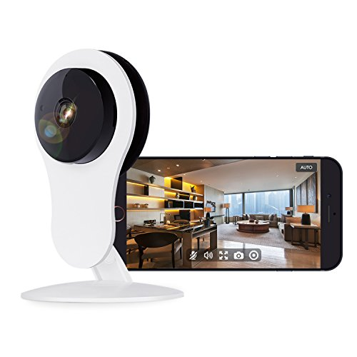 NETVUE Home Security Camera HD, Compatible with Alexa Echo Show, HD WiFi Wireless IP Camera with Motion Detection, 7x24h Cloud Storage, Night Vision, 2 Way Audio, Baby Monitor (720p) ()