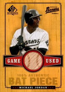 2000 Upper Deck Sp Top Prospects Game Used Bat B-MJ Michael Jordan Baseball Card - Near Mint to Mint
