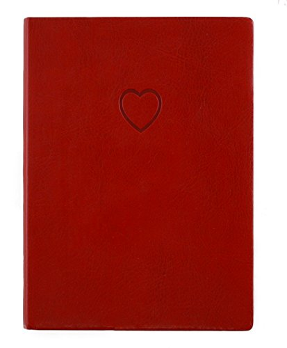 Red Embossed Heart Writing Journal
