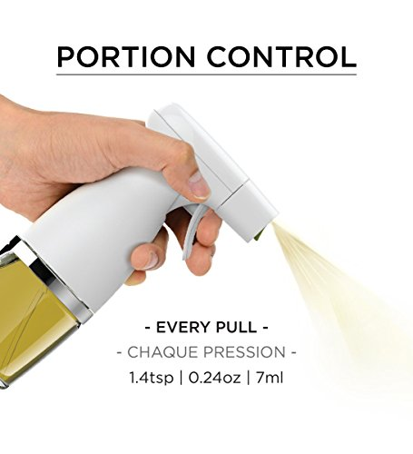 Prepara Healthy Eating Trigger Oil Sprayer for Kitchen and Grill, Simply Mist, Glass by Prepara (Image #3)