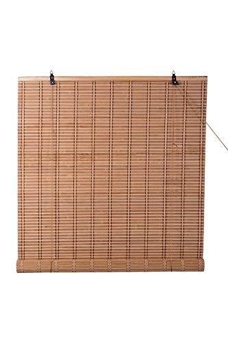 TJ Global Bamboo Roll Up Window Blind Sun Shade, Light Filtering Roller Shades (24