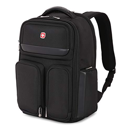 SWISSGEAR Large ScanSmart 15-inch Laptop Backpack | TSA-Friendly Carry-on | Travel, Work, School | Men's and Women's - Black