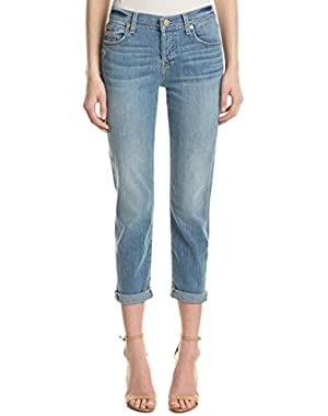 Womens Josefina Light Oak Creek Skinny Boyfriend Cut, 27, Blue