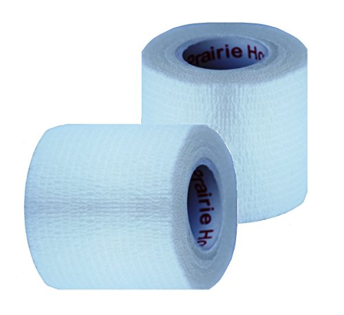Vet Wrap Tape, Self Adherent Rap Tape, Self Adhering Stick Bandage, Self Grip Roll - (2-Inches Wide) x 15' Feet - (White)