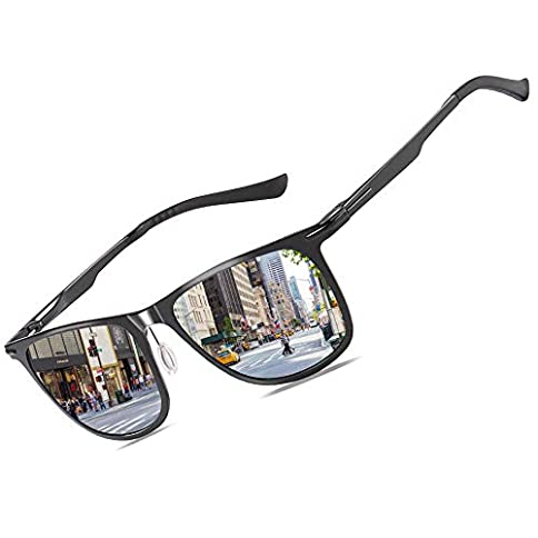 - 41OtTAMKJ9L - Bircen Driving Polarized Sunglasses for Men Women Al-Mg Metal Frame Ultra Light