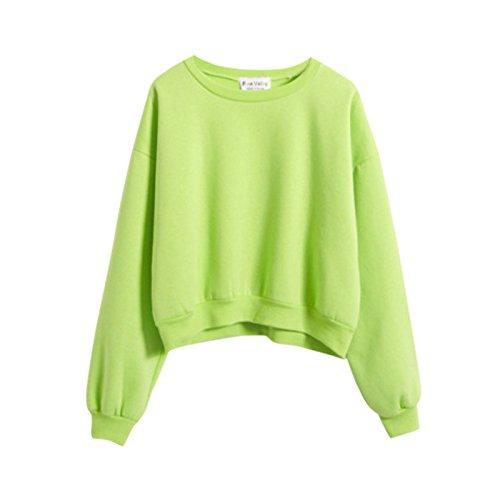ROPALIA Teen Girl's Casual Crew Neck Sweatshirt Tops Outerwear