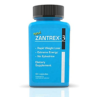 Zantrex Blue - High Energy Diet Pills, Dietary Supplement, Rapid Weight Loss, Extreme Energy, (84 count)