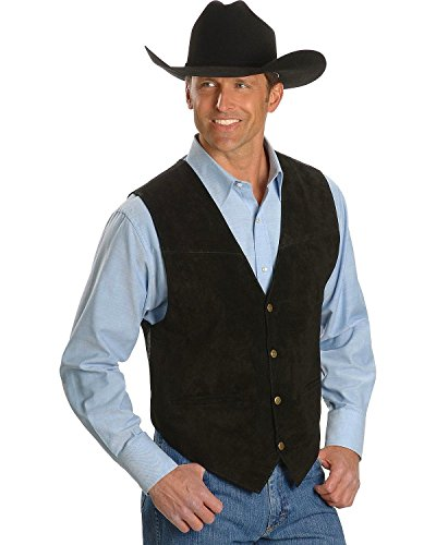 Scully Men's Suede Leather Vest Black (Western Vests)
