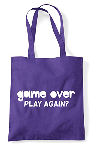 Gamer Game Purple Gaming Shopper Over Again Tote Bag Play Statement 77Onfpxw