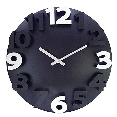 Large 3D Number Wall Clock