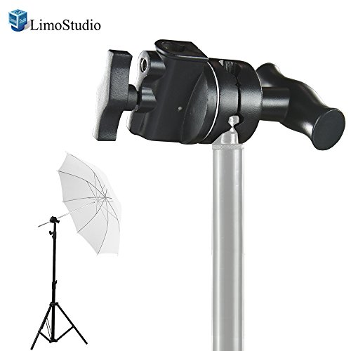 LimoStudio 2.5 Inch Diameter Grip Head Black 1/2, 1/4, 3/8, 5/8 Inch Mount, Compatible with Super Clamp, Extension Grip Arm, C Stand with Turtle Base, Reflector Disc, Photo Studio, AGG2150 by LimoStudio