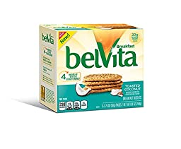 Belvita Breakfast Biscuits, Toasted Coconut, 8.8 Ounce (Pack of 6)