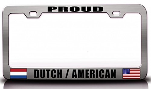 Sheepdog License Plate Frame - License Plate Covers Proud Dutch American Nationality Patriotic Steel License Plate Frame Ch