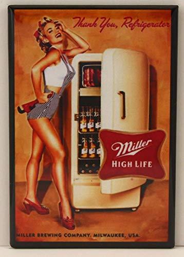 Beer Fridge Pinup Girl Refrigerator Magnet.