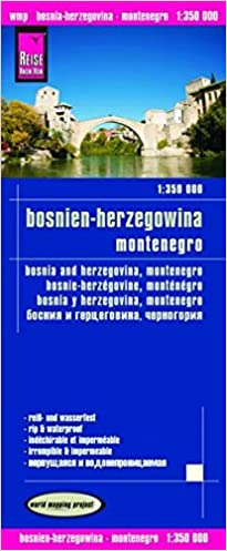 Bosnia Herzegovina Montenegro Road Map English Spanish French