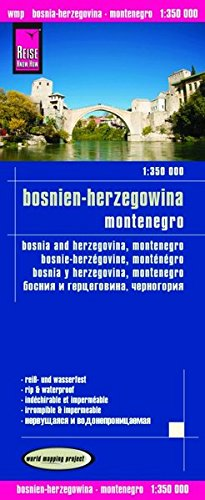Bosnia Herzegovina / Montenegro Road Map (English, Spanish, French, German and Russian Edition)
