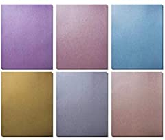 Value Pack of 120 shiny metallic papers with eye catching colors. SIX COLORS: Silver, Gold, Copper, Rose, Aquamarine, Amethyst colors in Shiny and elegant finish. VALUE PACK BUNDLE- 120 sheets of metallic colored papers, great value and long ...