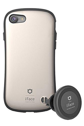 肝スマート哀れなiPhone8 iPhone7 ケース 耐衝撃 iFace Duo Set 車載ホルダー セット 正規品/メタリック/ゴールド