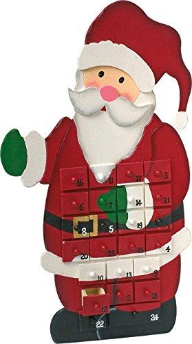 Legler Adventskalender Weihnachtsmann ca. 28 x 17 x 18 cm -