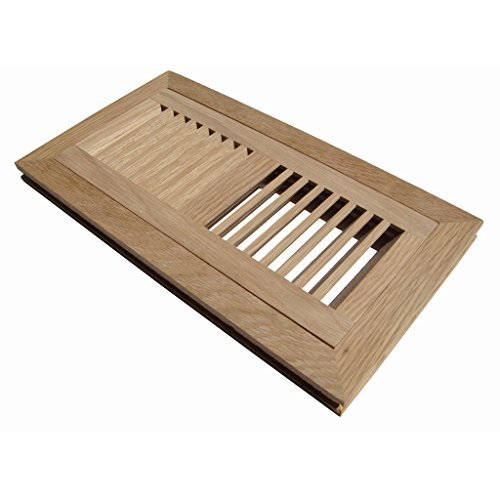 WELLAND Hardwood Flush Mount Floor Register Vent Unfinished,2 inch x 12 inch,White Oak - 2 Oak Flooring