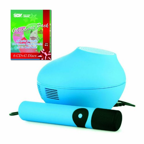 Singing Machine SMC4TV Blue Karaoke System & Christmas Songs Pack -  Ace Karaoke, HSMGAI4TVBL+SSDKXM01EG