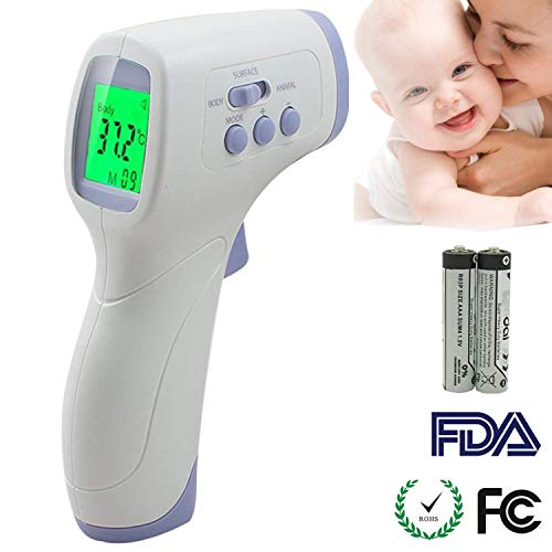 - ANIKUV Forehead Digital Thermometer for Baby, Kids, Adults and Pets, Non-Contact Infrared Body Temperature Thermometer Accurate Fever Thermometer