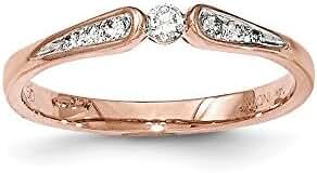 14K Rose Gold Diamond Ring / Ctw. 0.14