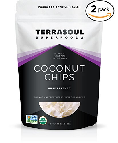 Terrasoul Superfoods Raw Coconut Chips (Organic), 24 Ounces