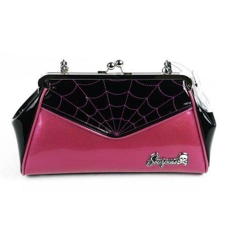 Sourpuss-Purse-Spiderweb-Backseat-Baby-Pink-SPPU2016
