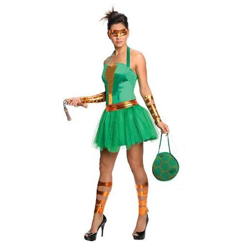 Ideas Ninja Turtle Costume Female (MICHELANGELO ADULT FEMALE SZ)