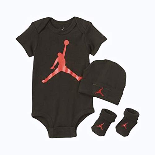 5541dc88a4c3b7 Nike Air Jordan Infant 3-Piece Set - 6 12 Months (Black)