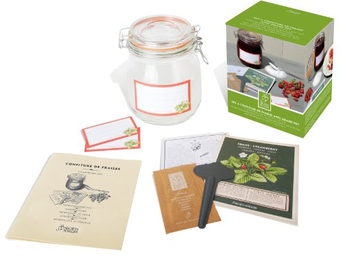 Esschert Design USA 2013 Secrets du Potager Strawberry Jam Set with 1 Large Jar