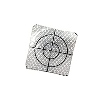 GEOLENI Reflective Adhesive Target Sheets for Total Stations (Pack of 10) (20×20)