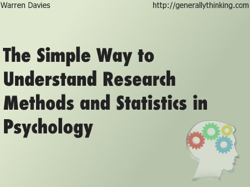 Amazon the simple way to understand research methods and the simple way to understand research methods and statistics in psychology by davies warren fandeluxe Gallery