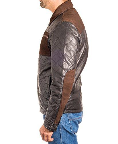 Trucker Denim Casuale Motociclista Occidentale Stile Uomo Del Nel Designer Cuoio Nero Jacket SFFqpz