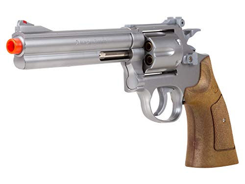 934 UHC 6 inch revolver, Silver/Brown airsoft -