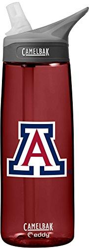 NCAA Arizona Wildcats Unisex CamelBak Eddy 75L Collegiate Water Bottle, Cardinal, 75 Liter