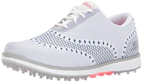 Skechers Performance Women's Go Golf Elite Ace Jacquard Golf Shoe,White/Navy,6 M US