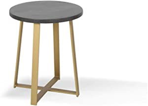 Alveare Home Paige Round Side Table, Black WASH
