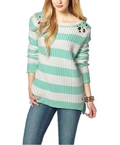 Striped Ajc Ajc Sweater White Mint Mint White E5CqfXwcc