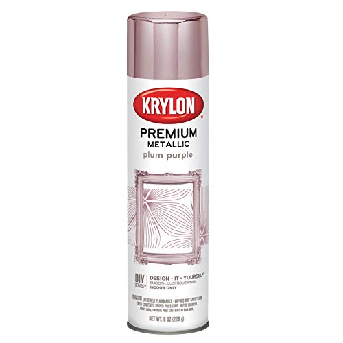 Krylon K01200000 Premium Metallic Aerosol Paint, 8 oz, Plum Purple, 6 1