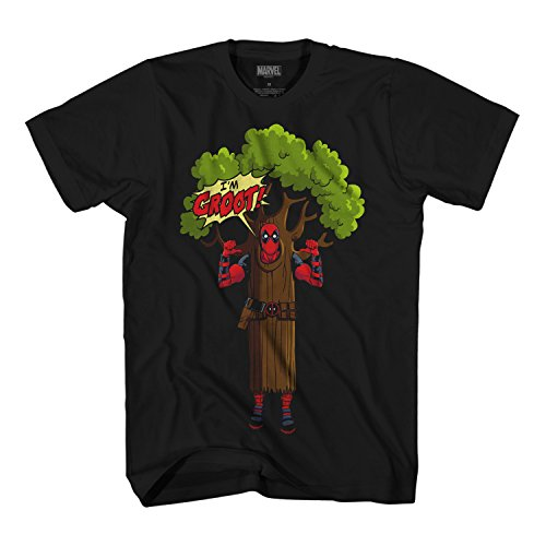 Marvel Deadpool I am Groot Logo Mens T-Shirt