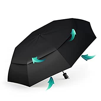 BEST TRAVEL UMBRELLAS for Smart Women & Men, Premium Windproof & Compact Umbrella for Rain & UV Protection, Lightweight for Kids to Hold, Cool Auto Open & Close Button, Perfect for Outdoor Adventures!