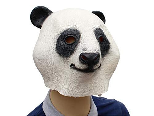 Yuchoi Funny Cute Latex Panda Mask Funny Latex Mask Head Cover Halloween Masquerade (White) by Yuchoi (Image #1)