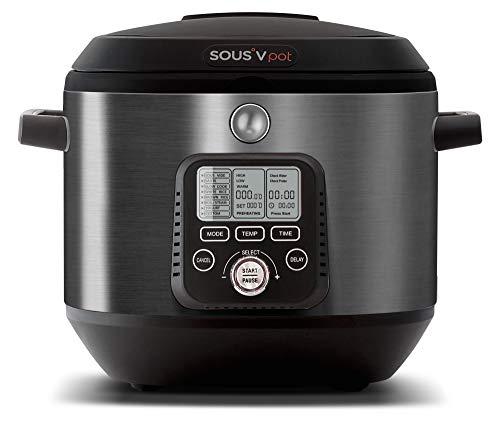 SOUSV pot Precision Sous Vide Multi Cooker, Sous Vide to Sear, Multi-Use Programmable Slow Cooker, Delay Timer Function, Saut , Boil, Food Steamer, Rice Cooker, Yogurt Maker