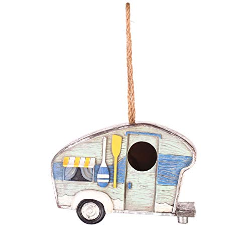 Topadorn Hanging Car Bird House Home Accents, Outdoor and Indoor Decorations for Your Home Garden or (Best Garden & Lawn Supply Bird Houses)